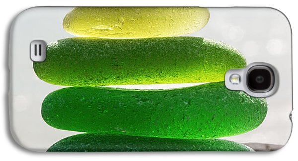 Green Glass Art Galaxy S4 Cases - Lime Breeze Galaxy S4 Case by Barbara McMahon
