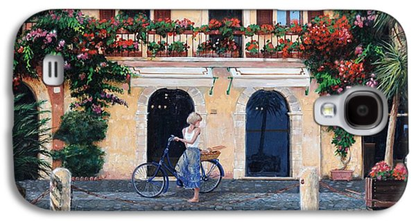Italian Photographs Galaxy S4 Cases - Limone, Lake Garda, Italy, 2003 Oil On Canvas Galaxy S4 Case by Trevor Neal