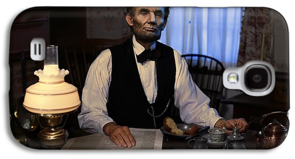 Ray Downing Galaxy S4 Cases - Lincoln at Breakfast 2 Galaxy S4 Case by Ray Downing