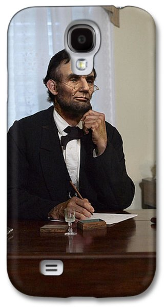 Ray Downing Galaxy S4 Cases - Lincoln at his Desk 2 Galaxy S4 Case by Ray Downing