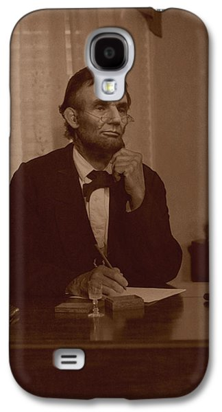 Ray Downing Galaxy S4 Cases - Lincoln at his Desk Galaxy S4 Case by Ray Downing