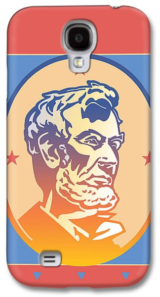 Abolition Digital Art Galaxy S4 Cases - Lincoln Galaxy S4 Case by David Chestnutt