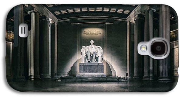 Statue Portrait Galaxy S4 Cases - Lincoln Memorial Galaxy S4 Case by Eduard Moldoveanu