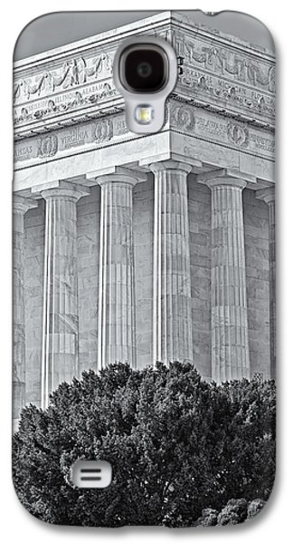 Monument Galaxy S4 Cases - Lincoln Memorial Pillars BW Galaxy S4 Case by Susan Candelario