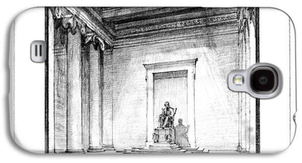 Lincoln Memorial Sketch IIi Galaxy S4 Case by Gary Bodnar