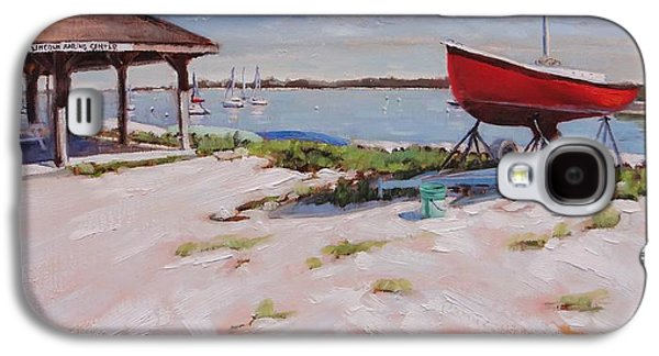 Nature Center Paintings Galaxy S4 Cases - Lincoln Sailing Center Galaxy S4 Case by Laura Lee Zanghetti