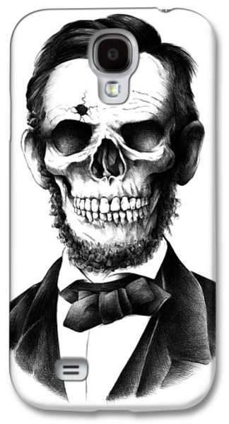 Abraham Lincoln Galaxy S4 Cases - Lincoln Skull Galaxy S4 Case by BioWorkZ