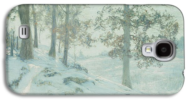 Winter Light Paintings Galaxy S4 Cases - Lingering Oak Leaves Galaxy S4 Case by Walter Launt Palmer