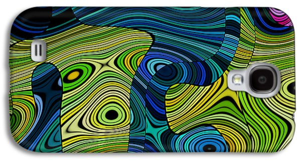 Rectangles Digital Galaxy S4 Cases - Linus - 04cr Galaxy S4 Case by Variance Collections