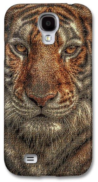 House Pet Digital Art Galaxy S4 Cases - Lion Canvas Portrait Galaxy S4 Case by Yury Malkov
