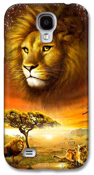 Lioness Galaxy S4 Cases - Lion Dawn Galaxy S4 Case by Adrian Chesterman