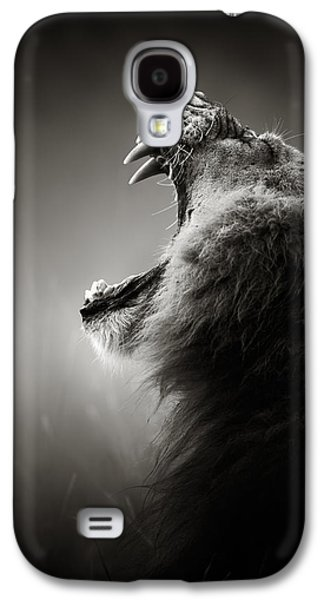 Lion Displaying Dangerous Teeth Galaxy S4 Case by Johan Swanepoel