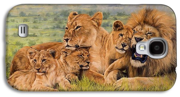 Lioness Galaxy S4 Cases - Lion Family Galaxy S4 Case by David Stribbling