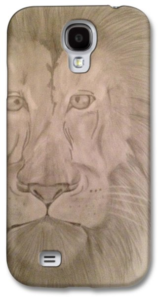 Etc. Drawings Galaxy S4 Cases - Lion Galaxy S4 Case by  Jessica Hope