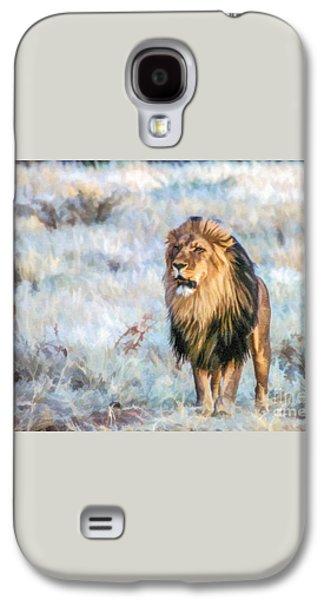 Handsome Lion Galaxy S4 Case by Liz Leyden