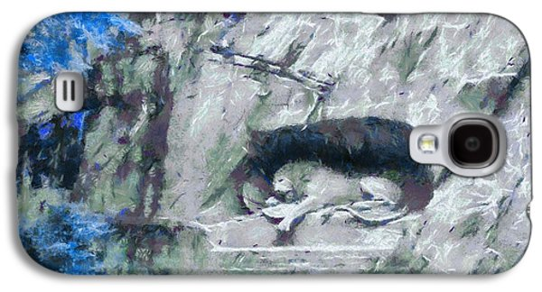 Switzerland Mixed Media Galaxy S4 Cases - Lion Of Lucerne Galaxy S4 Case by Dan Sproul