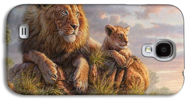 Sun Mixed Media Galaxy S4 Cases - Lion Pride Galaxy S4 Case by Phil Jaeger