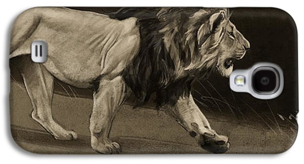 Digital Galaxy S4 Cases - Lion Sketch Galaxy S4 Case by Aaron Blaise