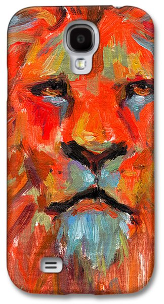 Sale Paintings Galaxy S4 Cases - Lion Galaxy S4 Case by Svetlana Novikova