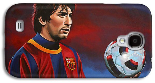 Work Of Art Galaxy S4 Cases - Lionel Messi  Galaxy S4 Case by Paul Meijering