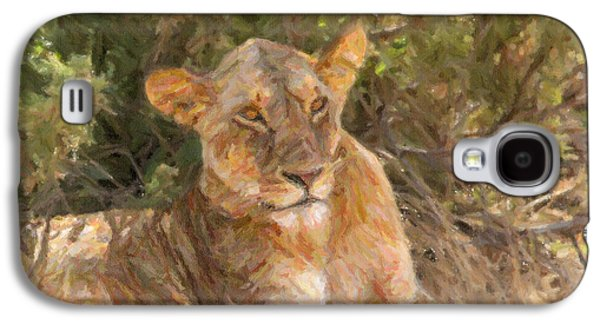 Lioness  Panthera Leo Resting Galaxy S4 Case by Liz Leyden