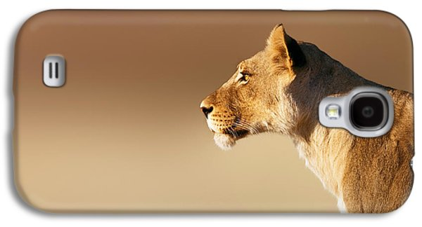 Lioness Galaxy S4 Cases - Lioness portrait Galaxy S4 Case by Johan Swanepoel