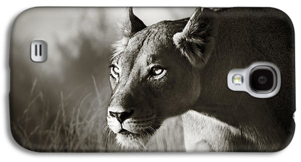 Leo Galaxy S4 Cases - Lioness stalking Galaxy S4 Case by Johan Swanepoel