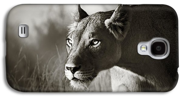 Lioness Stalking Galaxy S4 Case by Johan Swanepoel