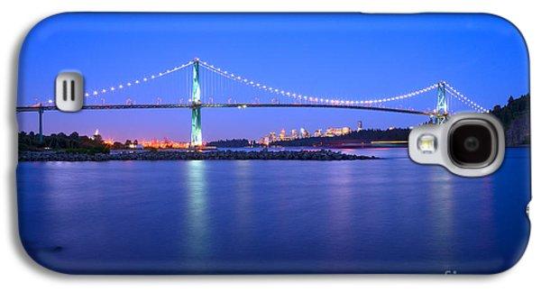 Burrard Inlet Galaxy S4 Cases - Lions Gate Bridge At Dusk 2 Galaxy S4 Case by Terry Elniski