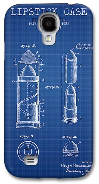 Make-up Galaxy S4 Cases - Lipstick Case patent from 1952 - Blueprint Galaxy S4 Case by Aged Pixel