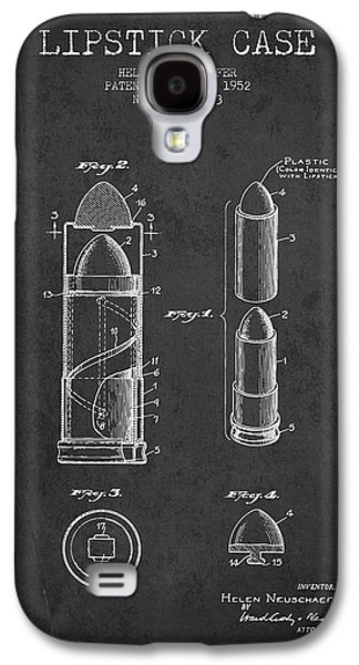 Make-up Galaxy S4 Cases - Lipstick Case patent from 1952 - Charcoal Galaxy S4 Case by Aged Pixel
