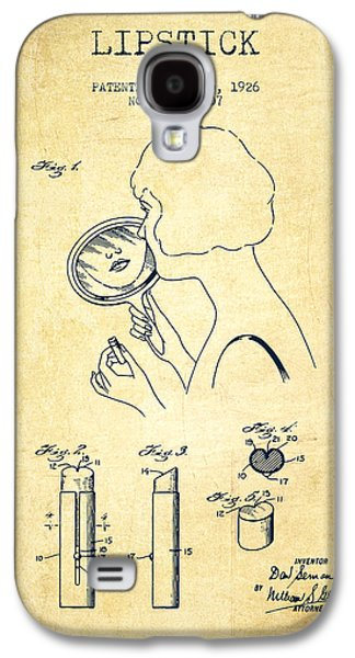 Make-up Galaxy S4 Cases - Lipstick Patent from 1926 - Vintage Galaxy S4 Case by Aged Pixel