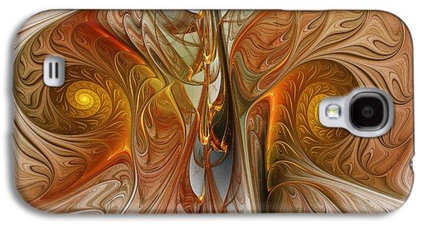 Contemplative Digital Galaxy S4 Cases - Liquid Crystal Spirals Galaxy S4 Case by Karin Kuhlmann