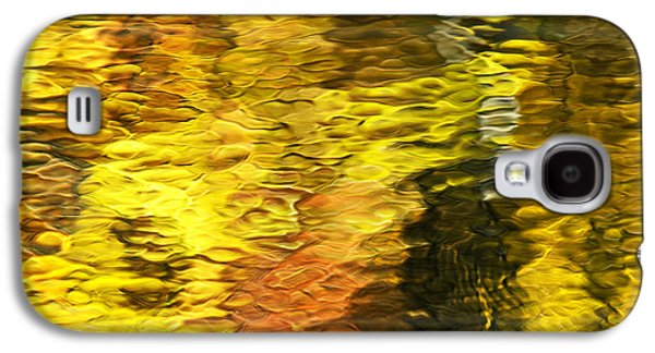 Abstracted Galaxy S4 Cases - Liquid Gold Abstract Reflection Galaxy S4 Case by Christina Rollo