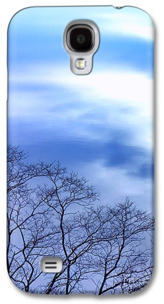 Winter Trees Photographs Galaxy S4 Cases - Liquid Sky Galaxy S4 Case by Olivier Le Queinec