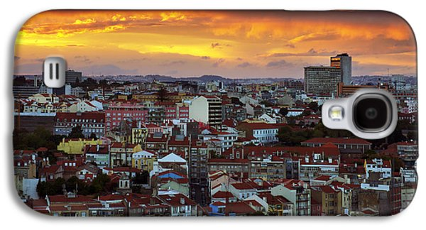 Ancient Galaxy S4 Cases - Lisbon at Sunset Galaxy S4 Case by Carlos Caetano