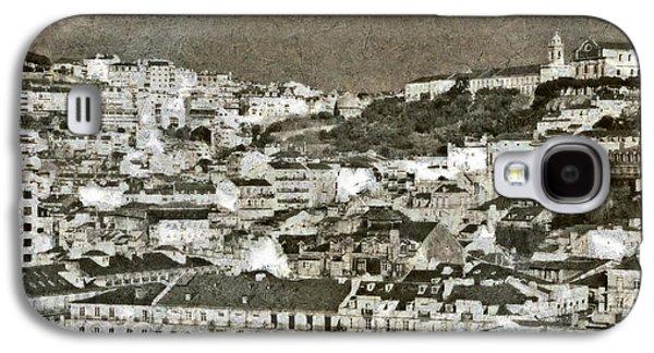 Portuguese Mixed Media Galaxy S4 Cases - Lisbon Roofs Galaxy S4 Case by Dariusz Gudowicz