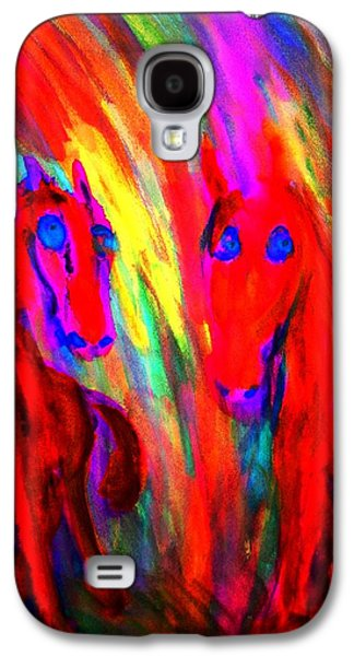 Component Paintings Galaxy S4 Cases - Listen To The Dragon News Galaxy S4 Case by Hilde Widerberg