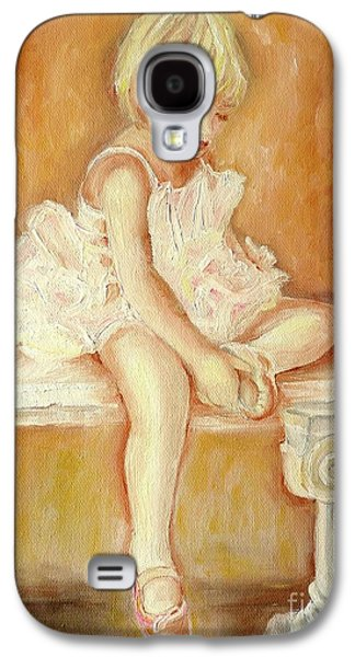Montreal Paintings Galaxy S4 Cases - Little Ballerina Galaxy S4 Case by Carole Spandau