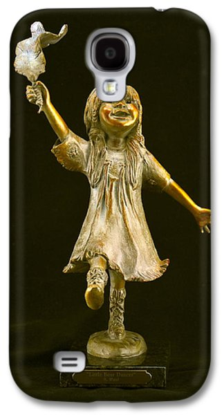 Native Sculptures Galaxy S4 Cases - Little Bear Dancer Galaxy S4 Case by Barb Maul