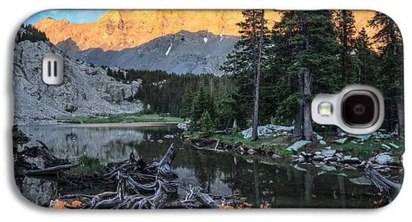 Sun Galaxy S4 Cases - Little Bear Peak and Lake Como Galaxy S4 Case by Aaron Spong