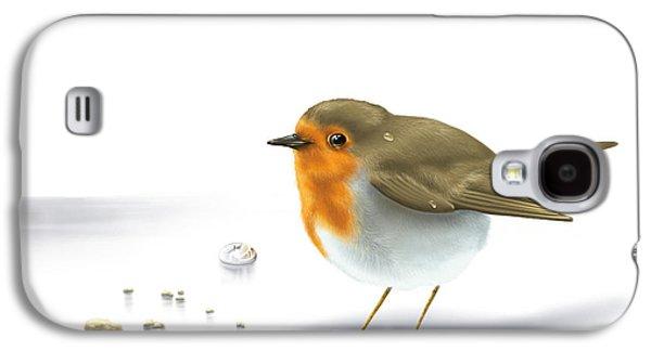 Digital Galaxy S4 Cases - Little bird Galaxy S4 Case by Veronica Minozzi