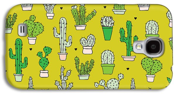 Little Cactus Botanical Garden Galaxy S4 Case by Maaike Boot