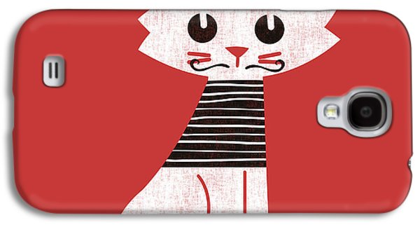 Cats Digital Art Galaxy S4 Cases - Little cat in paris Galaxy S4 Case by Budi Satria Kwan
