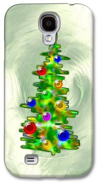 Spirits Galaxy S4 Cases - Little Christmas Tree Galaxy S4 Case by Anastasiya Malakhova