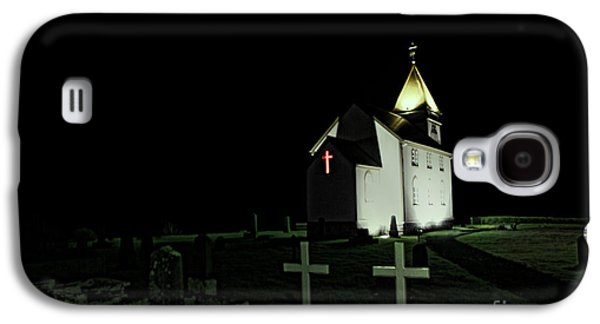 Headstones Galaxy S4 Cases - Little Church at Night Galaxy S4 Case by Jasna Buncic