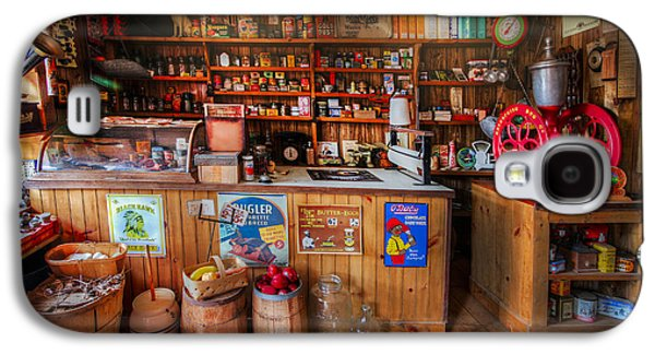 Old Grinders Galaxy S4 Cases - Little Country Grocery  Galaxy S4 Case by Debra and Dave Vanderlaan