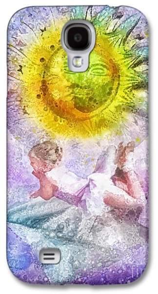Little Girls Mixed Media Galaxy S4 Cases - Little Dancer Galaxy S4 Case by Mo T
