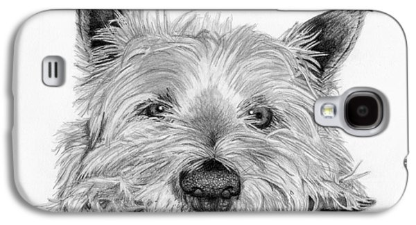 Drawing Galaxy S4 Cases - Little Dog Galaxy S4 Case by Sarah Batalka