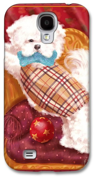 Toy Dog Galaxy S4 Cases - Little Dogs - Bichon Frise Galaxy S4 Case by Shari Warren